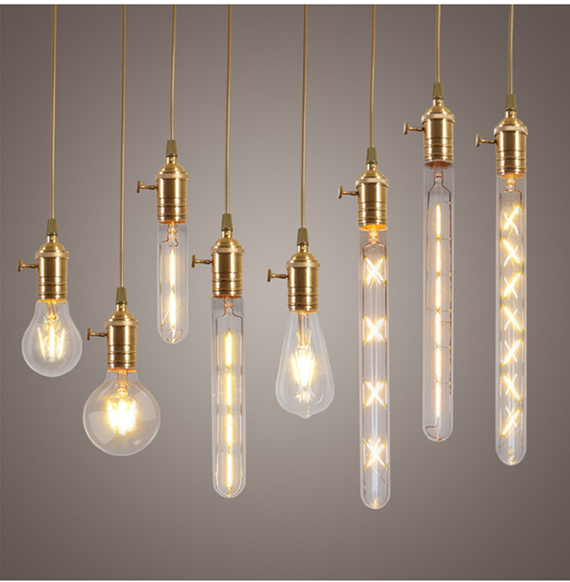 Retro Vintage Led Edison Bulb E27 Filament Light Warm White Clear Gl Indoor Home Decoration 4w 6w 8w Bulbs Cob Lamp In S From