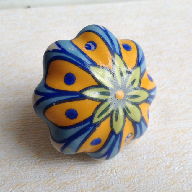 Kitchen Furniture Decorative Pumpkin cabinet Door Knob Ceramic ...