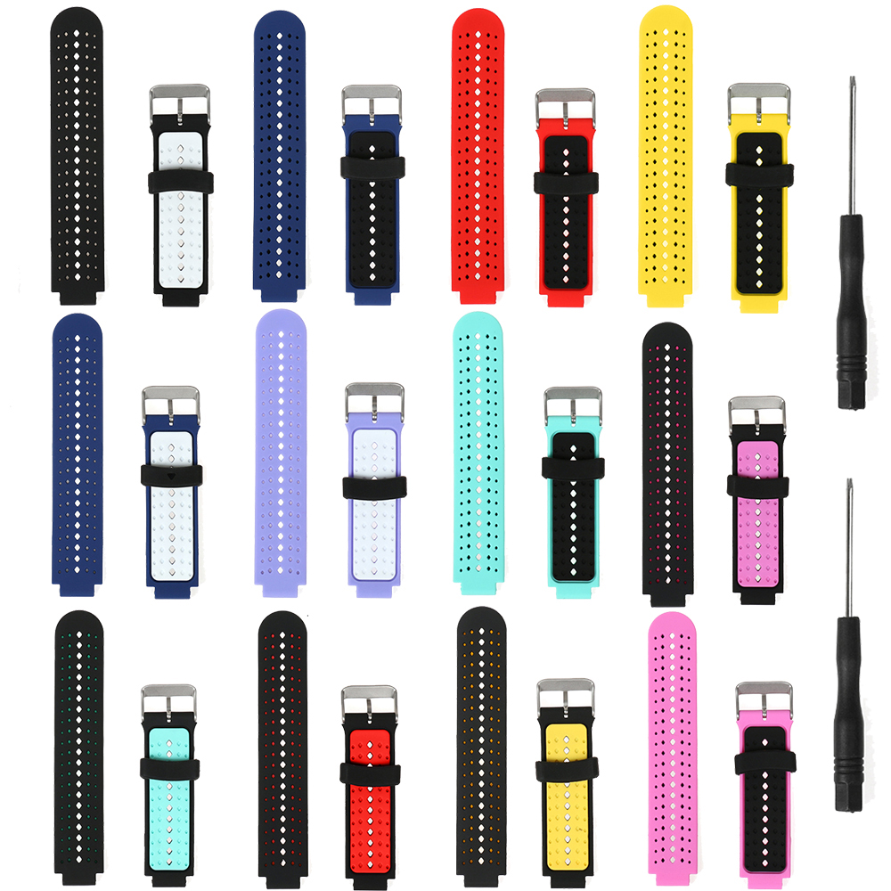 Bands Replacement For Garmin Forerunner 235 220 230 620 630 735XT Soft Wristband Strap For Garmin Approach S20 S6 Silicone Band