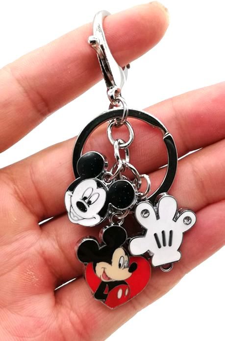 New 1 Pcs  Cartoon Mickey Hand  Keychain Jewelry Accessories Key Chains Pendant Gifts Favors