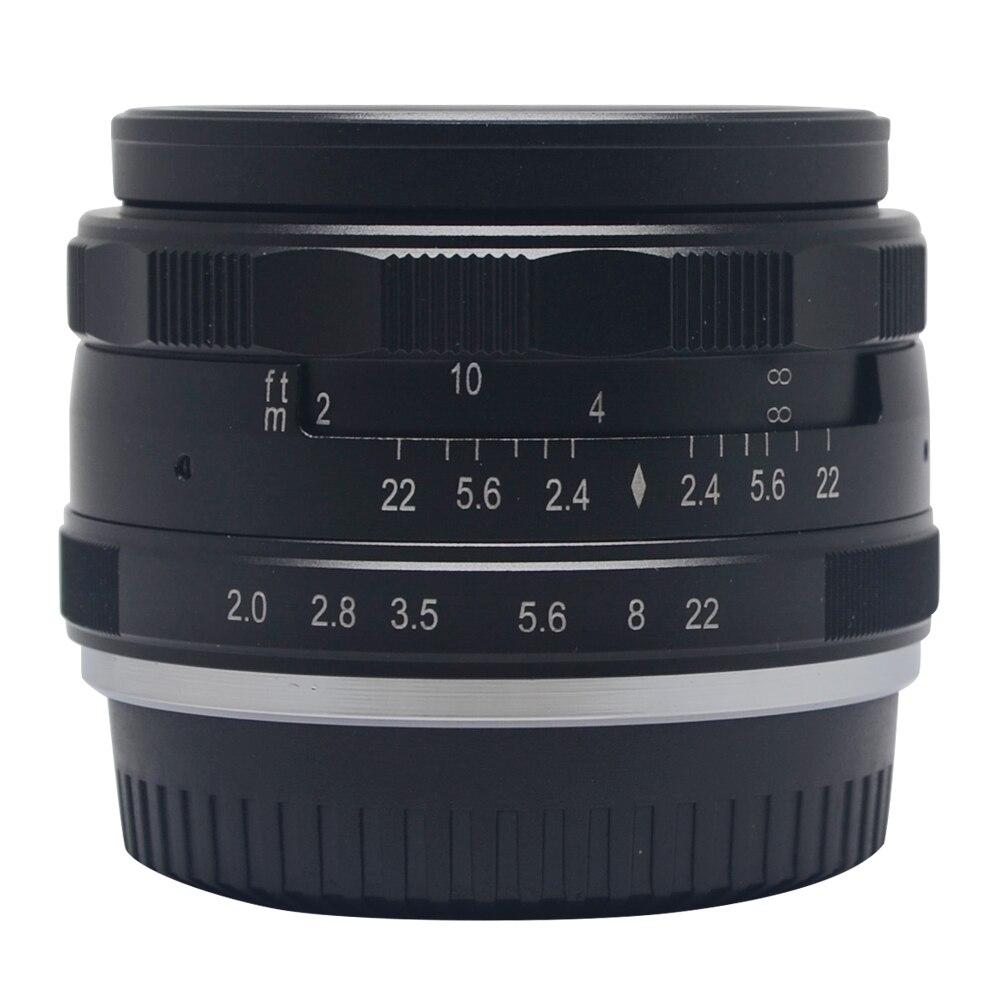 Meike MK-F-50mm F2.0 grande Apertura lente Messa A Fuoco Manuale APS-C per Fujifilm fotocamere X-A2 E1-E2 X X-T1 X-T10 X-E2S X-Pro1 X-Pro2