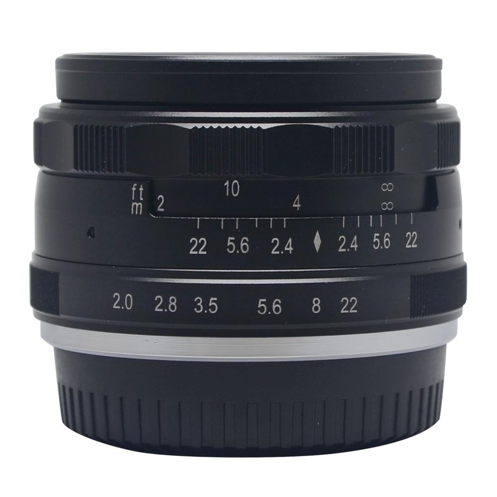 Meike MK-F-50mm F2.0 large Aperture Manual  Focus lens APS-C for Fujifilm cameras  X-A2 X-E1 X-E2 X-E2S X-T1 X-T10 X-Pro1 X-Pro2 metco meike mk f af3 fuji микро сингл крупным планом кольцо