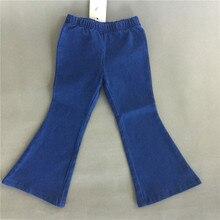 En Stock haute qualité 2016 printemps bébé filles nouvelle mode mer Leg Denim pantalons Vintage évasée pantalons Cool bébé enfants vêtements