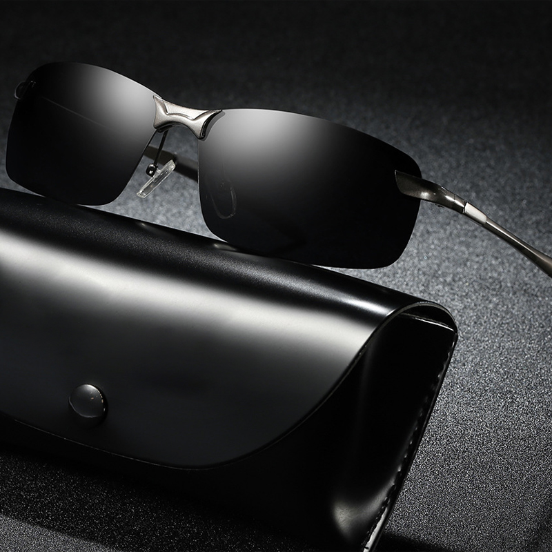 Brand Classic Polarized Sunglasses Men Driving Square Black Frame Eyewear Male Sun Glasses Male Fashion Glasses Men Sunglasses in Men 39 s Sunglasses from Apparel Accessories
