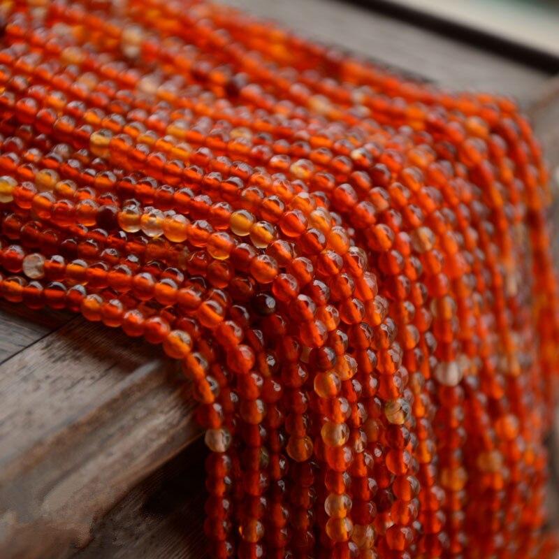 Rouge agate Forme Ronde À Facettes 3-4mm 15 nature pour les bijoux DIY faire lâche de perles FPPJ gros perles nature gem pierre