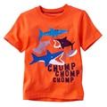 Hot Sale Summer 18 Months-6T Baby Boys Girls T-Shirt Children's Clothing Cotton Cartoon Shark Baby Boy Girl Creative Tees Tops