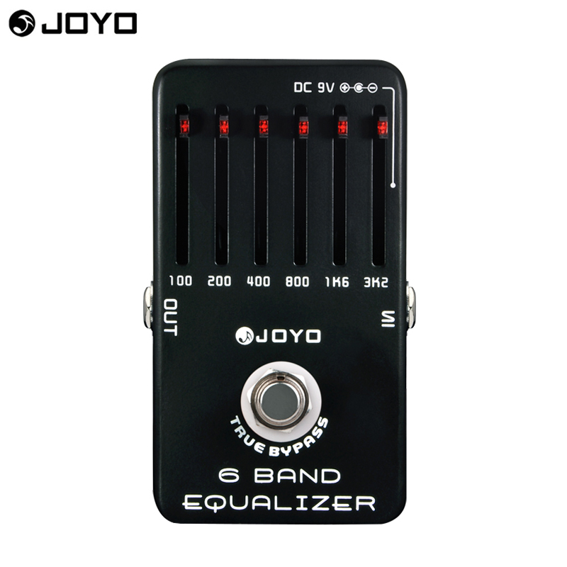 Joyo JF-11 EQ Equalizer 6-Band Professional Guitar Parts Effect Pedal True Bypass free shipping aroma aeg 3 gt eqanalogue 5 band equalizer guitar effect pedal mini volume with true bypass volume control guitar parts