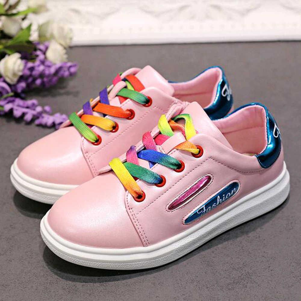 Keyiodo lindos zapatos para niños zapatos de encaje para niñas planos nueva llegada cómodos zapatos casuales hotsale niños niñas lienzo C357