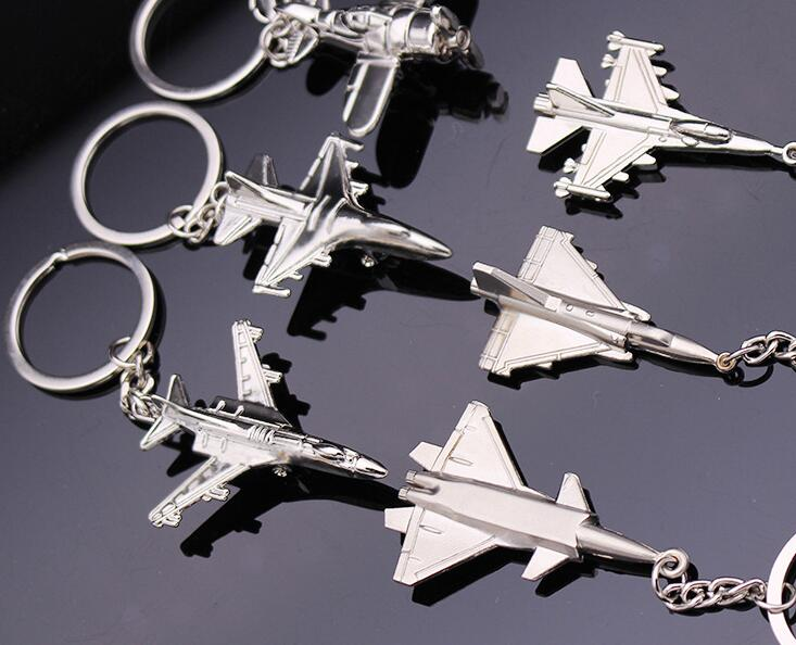 100pcs/Lot Metal Plane Keychain Mini Plane Key Chain Aircraft Model Keyring Airplane Key Chain For Car Bags Gifts image
