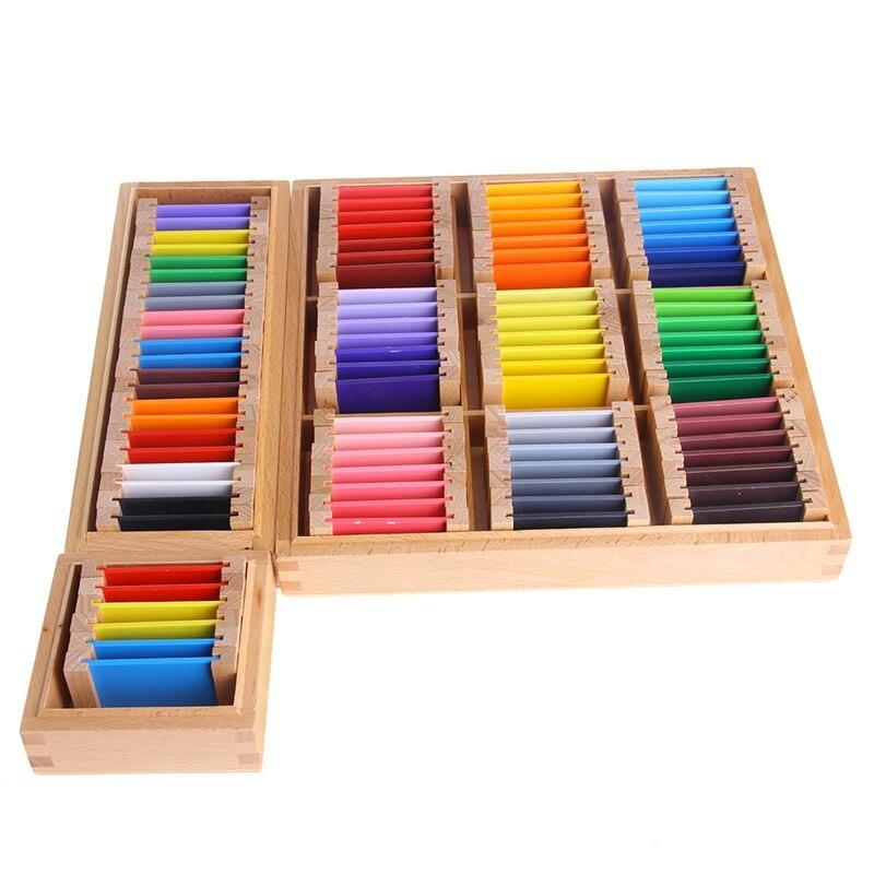 Bébé jouet Montessori bois couleur tablette 3rd boîte éducation de la petite enfance préscolaire formation enfants jouets Brinquedos Juguetes - 2