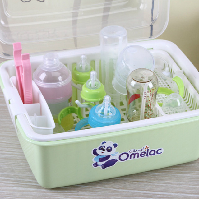 Online Shop Plastic Baby bottles stand dryer box no smell Clear