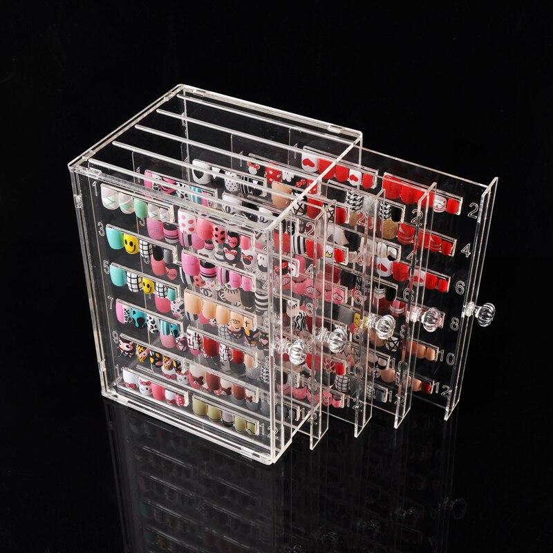 300 conseils vernis à ongles Gel couleur carte affichage des ongles, art des ongles Transparent dédié conseil bricolage montrant boîte pour manucure