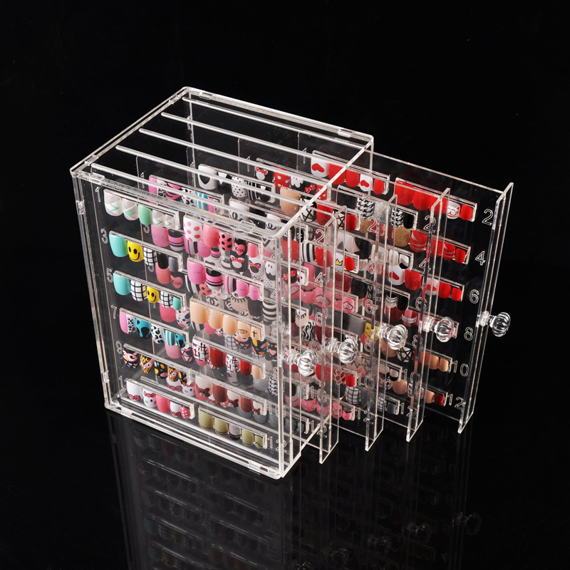 False Nail Tips Display Box , Nail Showing Shelf, 300 Colors Model Nail Salon Dedicated Board Display Nail Salon