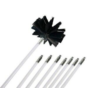Image 5 - Flessibile 8pcs Rods Con 1pc Testa della Spazzola Camino Cleaner Sweep Rotante Caminetti Parete Interna di Pulizia Pulitore di Spazzola Camini di accesso