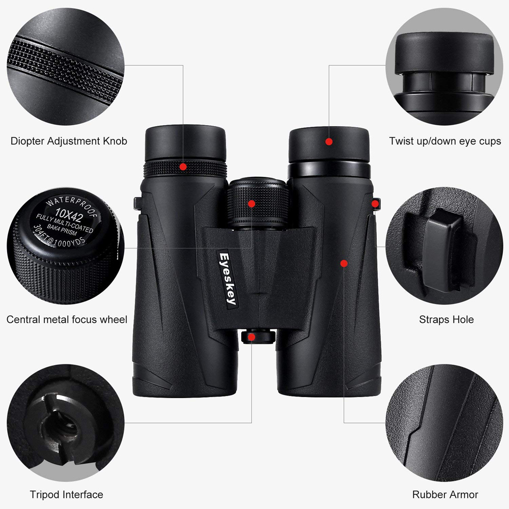 Image 2 - Eyeskey 8x42 Professional Waterproof Binoculars Extra Wide Field of View High Transmittance Telescope for Travelling and Hunting-in Monocular/Binoculars from Sports & Entertainment