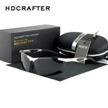 HDCRAFTER Brand New Fashion Sunglasses Oculos  Male  Rimless Rectangle Polarized  Driving Mirror  Mens Sun Glasses