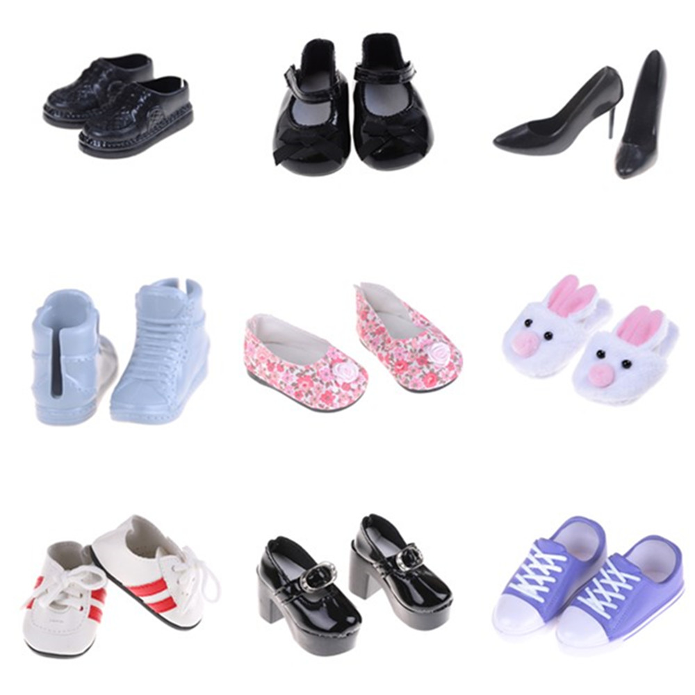 1pair Doll Boots High Heel Shoes Fits For 18 Inch Girl Doll Shoes W Doll Accessories High Heels For Dolls Boots