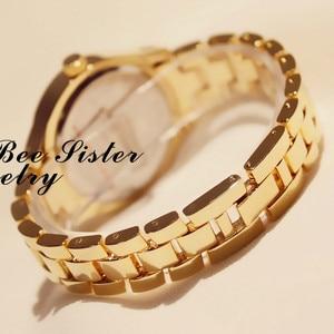Image 5 - Women Watch Ladies Diamond Stone Dress Steel Leopard print Rhinestone Bracelet Wristwatch Tiger Crystal Watch relogio feminino