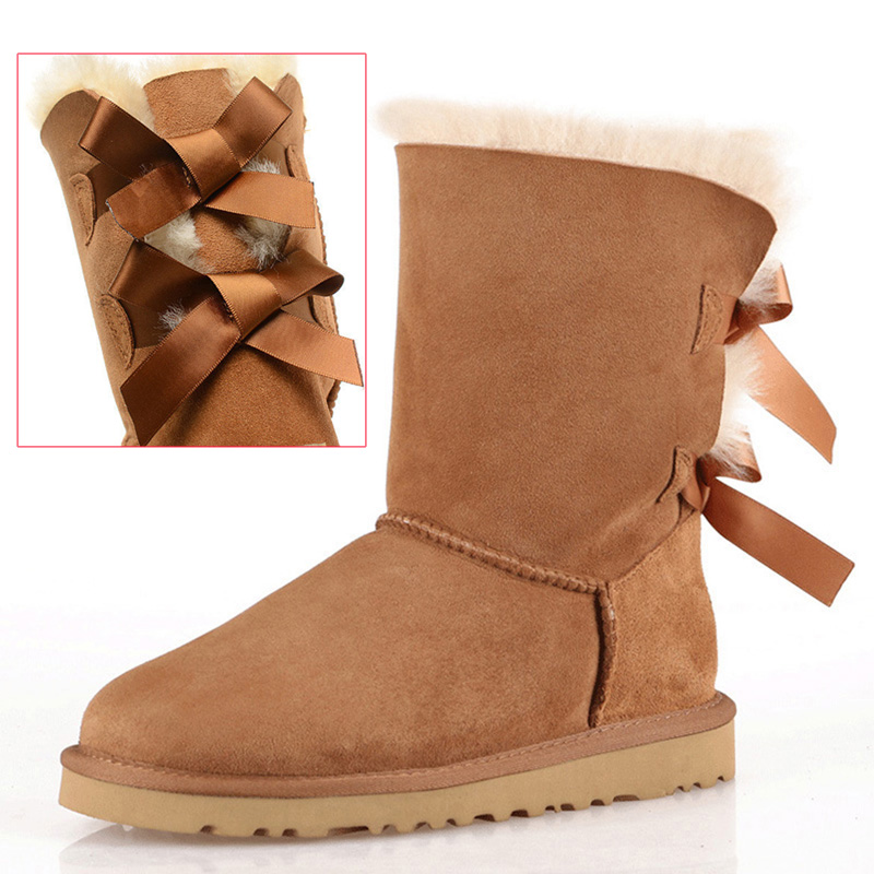 ФОТО New Ankle Boots For Women Genuine Leather waterproof Boots Women Winter Snow Boot High Quality Warm ugs australia boots women