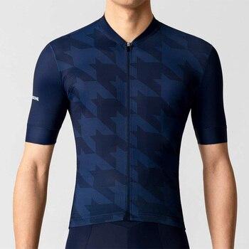 La passione koszulka rowerowa koszulka rowerowa topy koszulka rowerowa odzież rowerowa ropa ciclismo maillot z krótkim rękawem z antypoślizgową