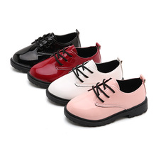 Childrens leather shoes boys casual PU Leather Shoes baby Girls black teenager Performance dress