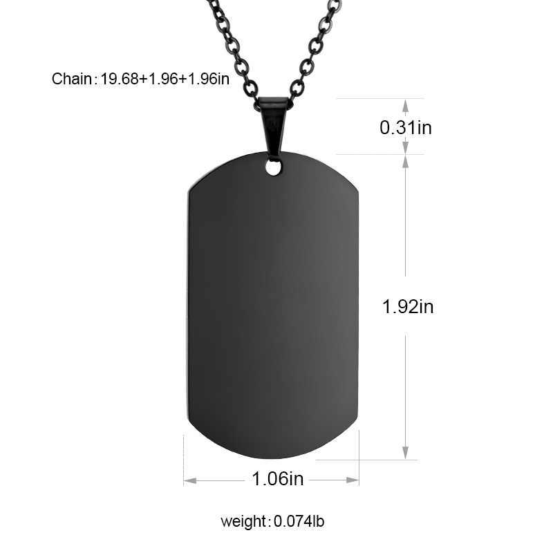 SOITIS moda męska prosta konstrukcja naszyjnik biżuteria zawieszka dla psa modne naszyjniki kolor czarny zawieszki regulowany łańcuszek