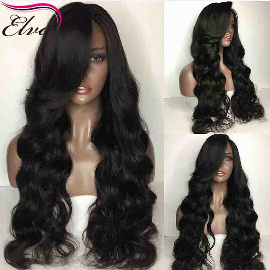 360 Lace Frontal Wig Pre Plucked With Baby Hair Brazilian Body Wave Lace Front Human Hair Wigs For Black Women Elva Remy Hair