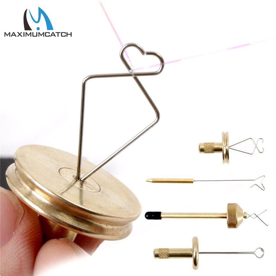 Maximumcatch Dubbing Twister/Spinner Brass Jig Fly Tying Twister Hair Stacker Fly Tying Tool