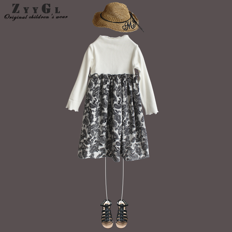 ZYYGL New 2018 Spring Autumn Baby Girl Dress cotton Mesh Patchwork Princess Girl Dress Long Sleeve Toddler Kids Dresses for Girl dress girl princess 2018 spring new