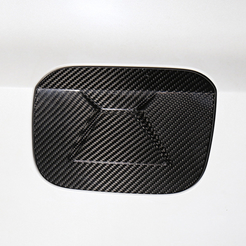 QHCP Carbon Fiber Car Sticker Fuel Tank Cover Black Oil Gas Cap Frame Exterior Decoration Fit For Lexus IS300 200T 250 2013-2019