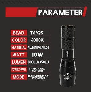 Image 3 - מכירה לוהטת LED פנס XML T6 טקטי פנס Q5 מיני לפיד עמיד למים כיס פנס UV פנס עקרב