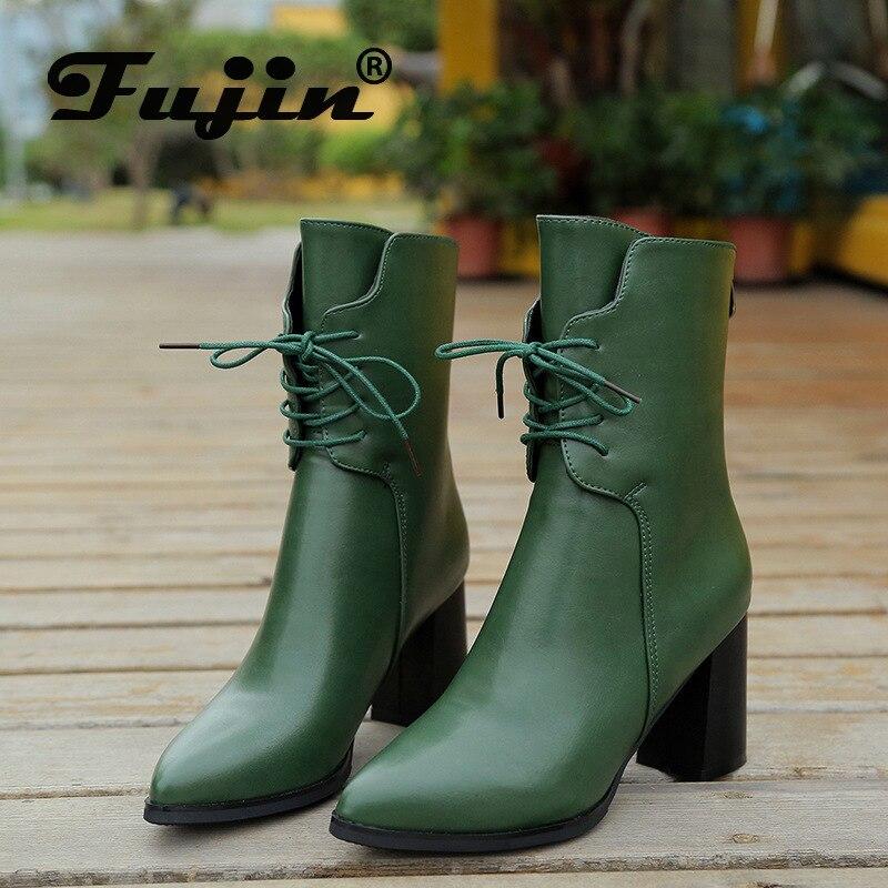 Fujin Black Boots Waterproofing-Platform Autumn Female Fashion Women New PU Europe