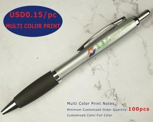 Image 5 - Lot 50pcs Retractable Plastic Gourd Ball Pen,Silver Barrel Ballpoint,Free Laser Engraved Custom Promotion Gift,Fair Advertise
