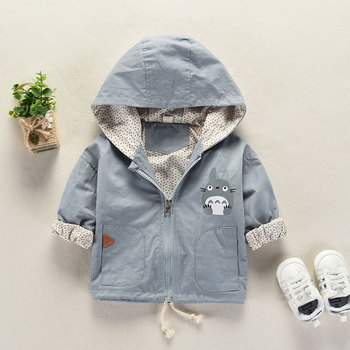Spring Autumn boy Girl Baby's Clothing Outfit Casual Hooded Jacket outerwear for boys girls baby clothes Loose thin coat jackets 1