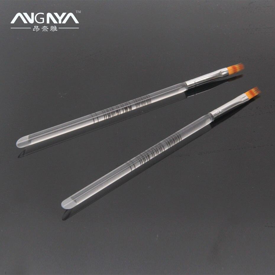 100PCS/Lot ANGNYA Acrylic UV Gel Nail Art Ombre Brush Transparent ...