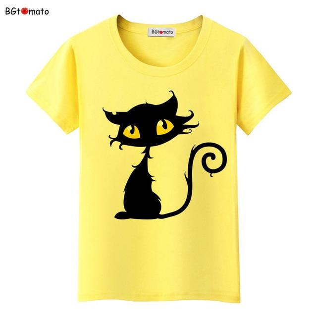 2a5c6b20fa1 BGtomato super cool 3d cartoon cats t shirt women popular summer fashion shirts  Brand good quality comfortable casual shirts