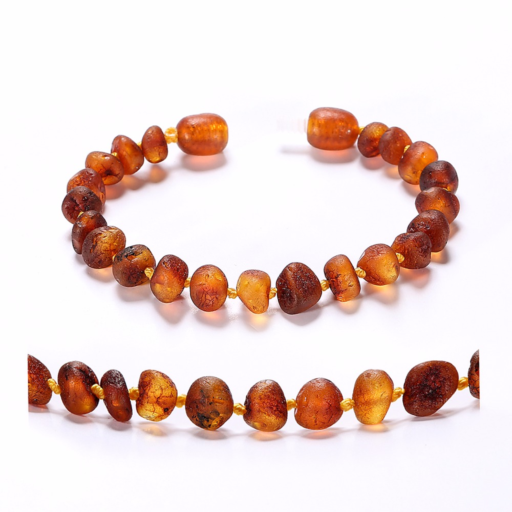 Raw Baltic Amber Teething Bracelet For Baby Cognac Unpolished Handmade In Lithuania Lab Tested Authentic 2 Sizes Bracelets Bangles From Jewelry