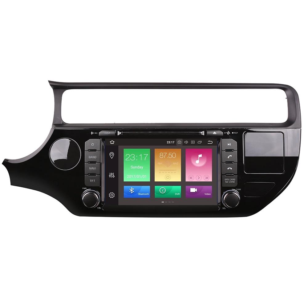 4G RAM Android 9.0 lecteur dvd gps de voiture pour Kia rio k3 2015 2016 dans tableau de bord tableau de bord lecteur radio vidéo + résolution Aux 1024*600
