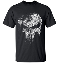 2016 streetwear Punisher Skull hip hop Supper Hero t shirts Men T-Shirt tops tees top brand slim clothing mma pp crossfit