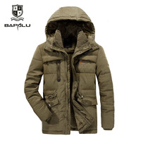 size L 4XL 5XL 6XL7XL 8XL winter jacket middle aged men's Plus velvet warm jacket jacket men's casual hooded jacket Coat 868