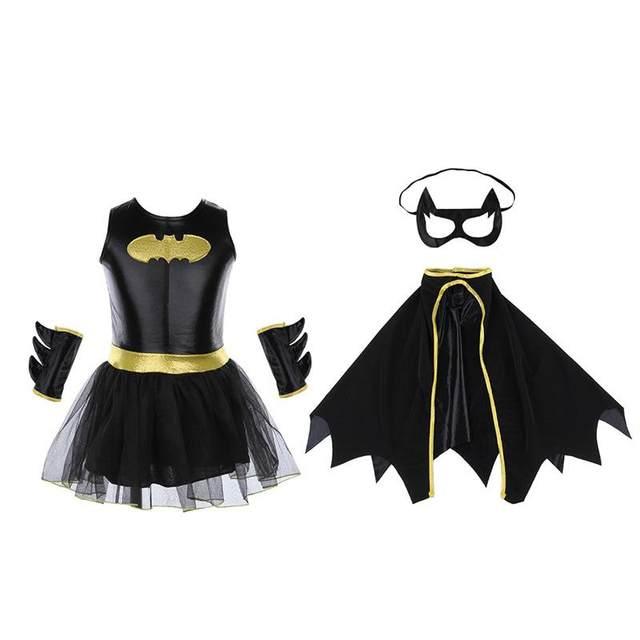 New Arrival Girls Batman Halloween Costumes Batgirl Fancy Dress Kids Disguise Carnival Party Outfit Superhero Cosplay 2017 S-XL  sc 1 st  Aliexpress & Online Shop New Arrival Girls Batman Halloween Costumes Batgirl ...