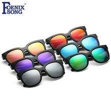 FOENIXSONG Oculos Feminino óculos de Sol Da Moda Nova Crianças Dos Miúdos Óculos  de Sol Polarizados Espelhar Gafas Do Vintage Me. e9fc87b82d