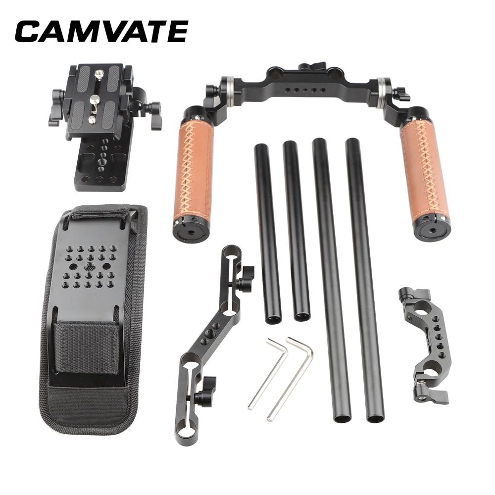 Image 2 - CAMVATE Dslr ショルダーマウントリグデュアルハンドグリップサポートキット C1769フォトスタジオ用アクセサリー   -