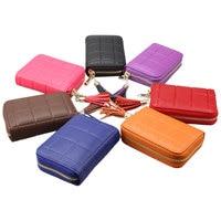 Moda kadın Deri Cüzdan Coin Çantalar KIMLIK Kartı Tutucu RFID Kredi Kartı Çanta Fermuar Püskül Katı Küçük Cepler 7 renkler