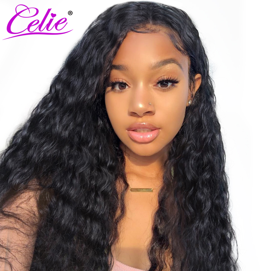 Celie Water Wave Wig Full Lace Human Hair Wigs 200 Density Glueless Brazilian Full Lace Wig