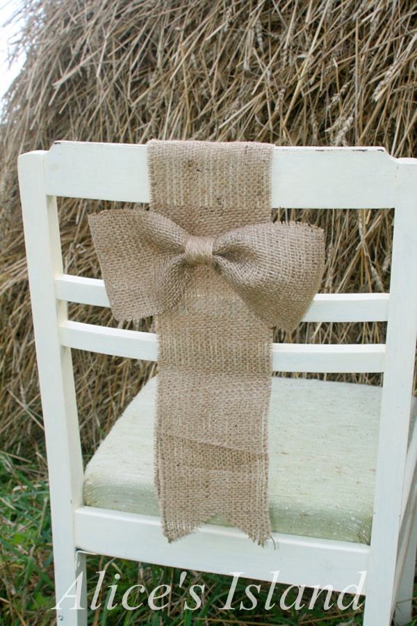 Cool Us 23 27 6Pcs Lot Rustic Wedding Chair Cover Chair Decoration Burlap Jute Decorative Bow Simple Burlap Bow In Party Diy Decorations From Home Andrewgaddart Wooden Chair Designs For Living Room Andrewgaddartcom