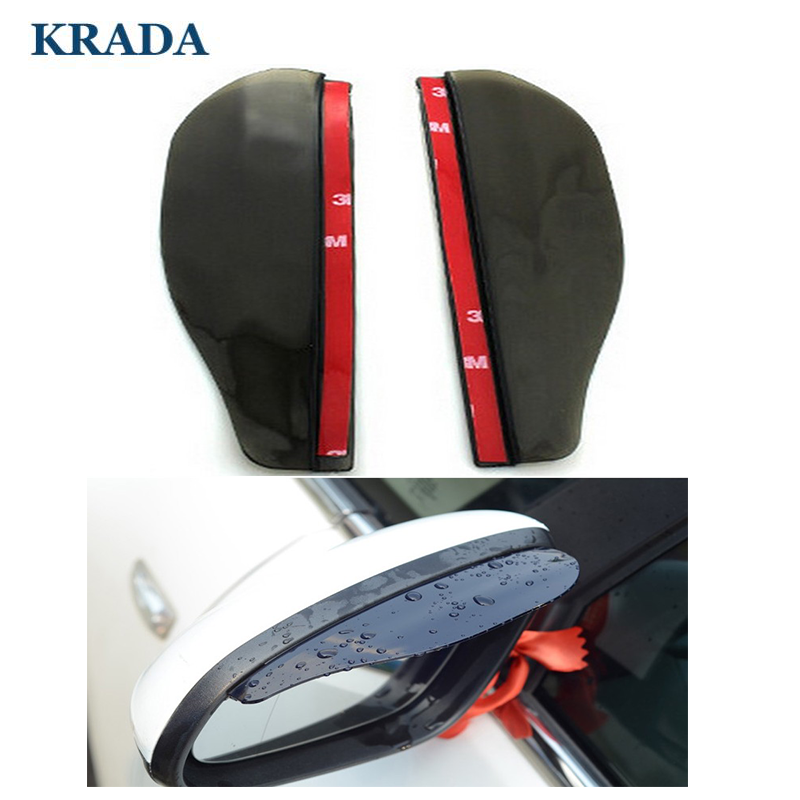 KRADA Car  Rain Shield Flexible  Mirror Rain Eyebrow Hade for mercedes benz amg w204 cla amg w204 w203 w211 w205 w124 w205 w210 2x t10 w5w led car canbus parking light clearance bulbs for mercedes benz w211 w203 w204 c200 w210 w124 w202 cla w212 w220 w205