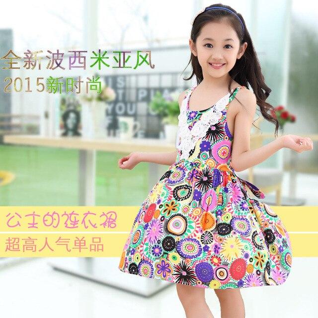 81f9da849 Baby girl summer dress children's wear boho girls flower Beach child lace  sleeveless dress 3 4 5 6 7 8 9 10 11 12 13 years girl