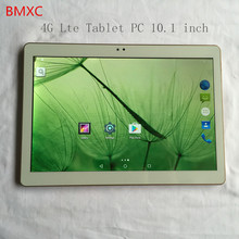 10.1 pulgadas 4G Lte BMXC Tablet PC Quad Core 4 GB de RAM 32 GB ROM Android 5.1 GPS de Doble Cámara de 5.0MP GPS tabletas + regalos