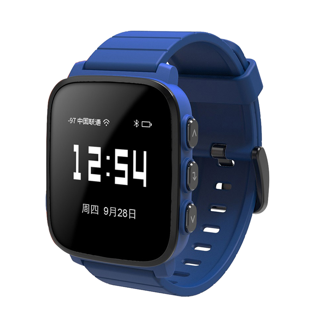 Blue Sport Smart Watch For Women Silicone Square Led Digital Intelligent Sport Watches Heart Rate Monitor Fitness Sma-Q2d Clock цена и фото